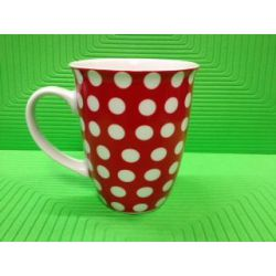 Beker 32cl Rood Dots Yong