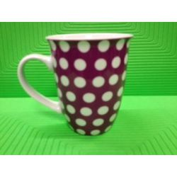 Beker 32cl Paars Dots Yong