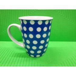 Beker 32cl Blauw Dots Yong
