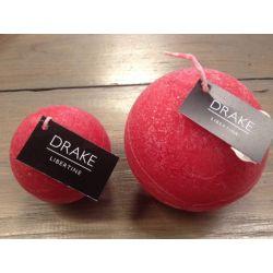 Geurkaars Drake, bol 6cm, rood, geur Libertine