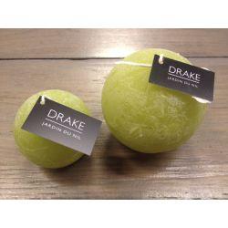 geurkaars Drake, bol 6cm, groen, geur Jardin du Nil